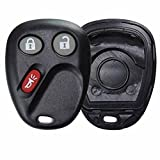 KeylessOption Replacement 3 Button Keyless Entry Remote Key Fob Shell Case and Button Pad Compatible with LHJ011