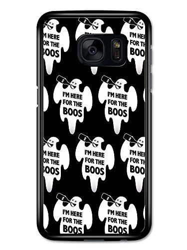 Cool Funny Spooky Ghost Halloween Boos Booze Beer Quote case for Samsung Galaxy S7]()