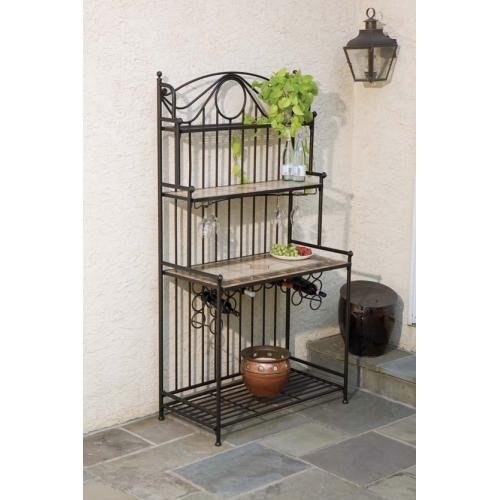 Baker's Rack by Alfresco Home - Charcoal (21-0835) -