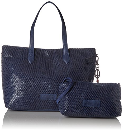 Fritzi aus Preußen Damen Andrina Business Tasche, 8.5x31x54.5 cm Blau (Atlantic)