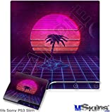 Sony PS3 Slim Decal Style Skin - Synth Beach