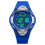 Watches - Kids Outdoors Waterproof Wristwatch - Multifunctional LED Digital Watch for Boys Girls