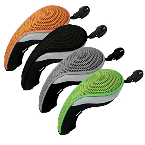 Andux Golf Hybrid Club Head Covers Set of 4 Colorful Interchangeable No. Tag ()