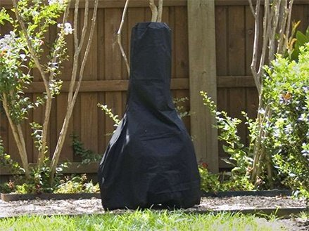 FIREPLACE CLASSIC PARTS Chiminea Cover Elite 24'' Dia X 40'' H Color: Black FCP739.BK2 by FIREPLACE CLASSIC PARTS