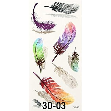 soxid (TM) 1pc Colorful pequeñas plumas alas 3d impermeable ...