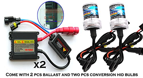 ICBEAMER 9006 HB4 12V 35W HID Xenon Conversion Kit Slim ballast 10000K - 2 Bulbs & 2 Ballasts Color: Blue by ICBEAMER