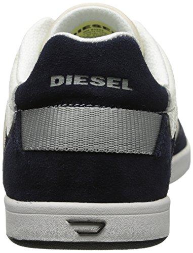 Diesel Mænds Eastcop Stivelse Mode Sneaker Sølv Birk / Blå Nætter EzUJAV2Y
