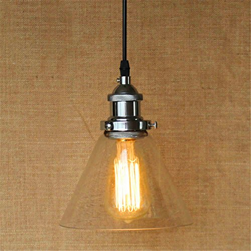 DengWu Wall Sconce American Village Retro Modern Simple personality Silver Transparent Glass Shade Restaurant Chandelier