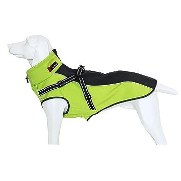 GAONAH Capa del Perro Chaqueta Impermeable para Mascotas Perros Invierno Cálido Abrigos para La Lluvia Seguridad Nocturna Reflectante para Perros Pequeños, ...