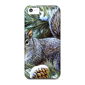 Hot Tpye Squirrel Illustration Case Cover For Iphone 5c