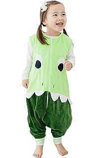 Happy Cherry - Infantil Mono Saco de Dormir Franela Algodón para Bebé con Cremallera Pijama Dibujo