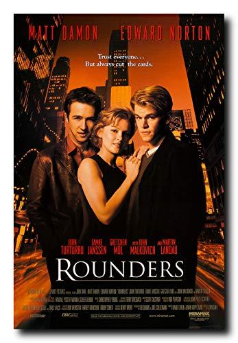 (Mile High Media Rounders Movie Poster 24x36 Inch Wall Art Portrait Print - Edward Norton - Matt)