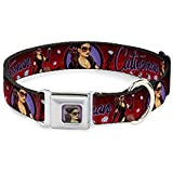 Buckle-Down DC-WCW008-S CWH CATWOMAN Bombshell Face C U Full Color Red Dog Collar - Small 9-15