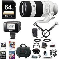 Sony FE 70-200mm Lens, HVLMT24AM Flash, HVLLEIR1 Video & IR Light Bundle