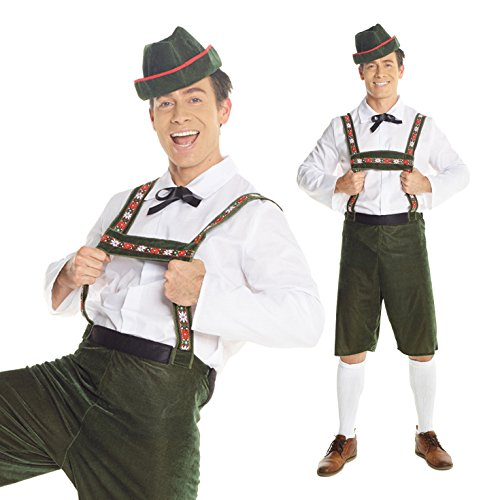 [Mens German Lederhosen Oktoberfest Costume Costume] (Festival Costume For Men)
