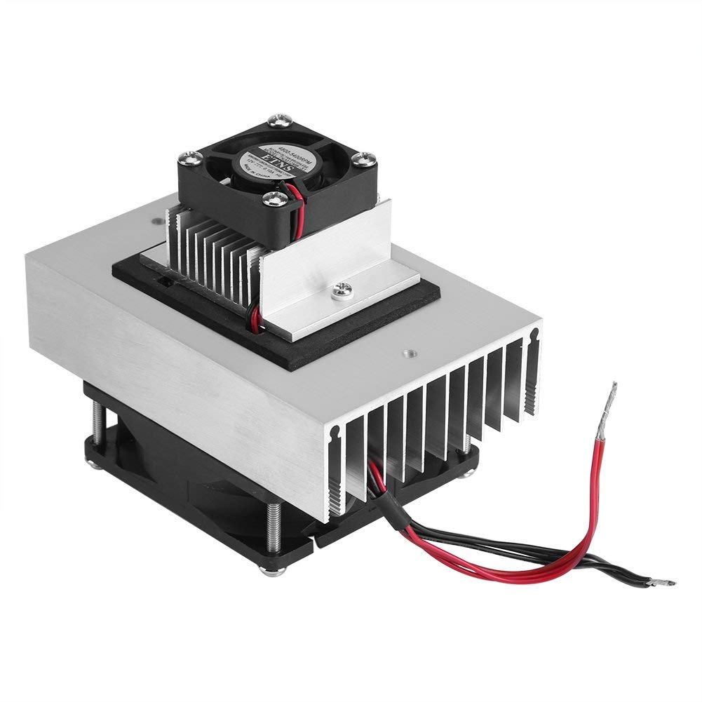 DC 12V Thermoelectric Peltier Cooler Refrigeration Cooling System Heat Sink Conduction Module Semiconductor Fridge Refrigeration Cooling System DIY Kit Mini Air Conditioner by Fdit