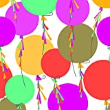 The Gift Wrap Company 1/4 Ream Wrapping Paper, Streaming Balloons