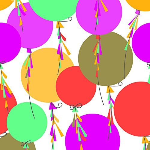 The Gift Wrap Company 1/4 Ream Wrapping Paper, Streaming Balloons by The Gift Wrap Company