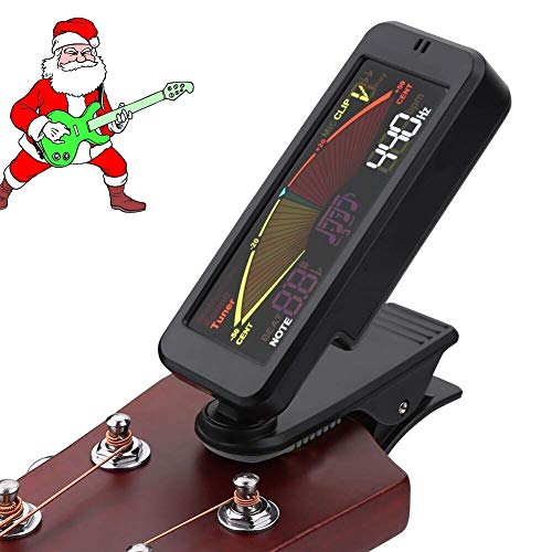 Ultra Portable Low-Profile Clip-on Tuner for Guitar