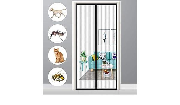 Blanco 28x75inch Verano Cortina magn/ética Cierre Autom/ático contra Insectos para Sala de Estar Balc/ón GUOGAI Mosquitera Magn/ética 70x190cm