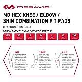 McDavid Pair Hex Knee/Elbow/Shin Pads, Large, MGrid