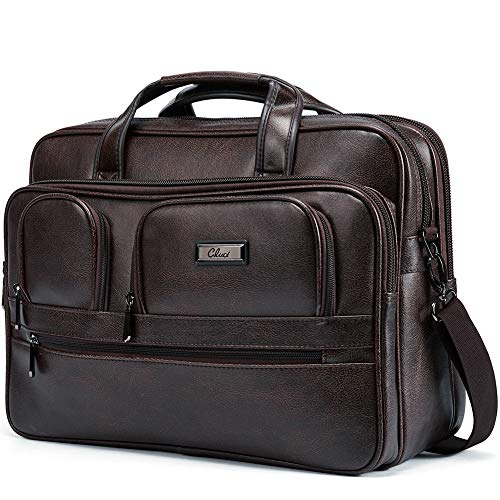 Briefcase for Men Women 15.6 inch Laptop Bag Organizer Large Capacity Travel Business Shoulder Messenger Bag Carry On Handle Case