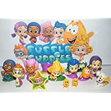 Nickelodeon Bubble Guppies Toy Figure Set of 13 with Bubble Puppy, Goby, Deema, Gil, Oona, Underwater Scenery, Baby Guppies Etc and Special ToyRing! by Bubble Guppies