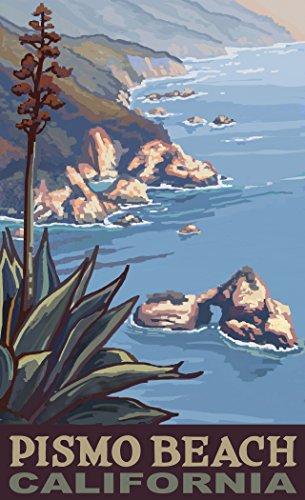 Northwest Art Mall PAL-6420 CL Pismo Beach California Coastline 11x17 Print by Artist Paul A. - Mall Coastline