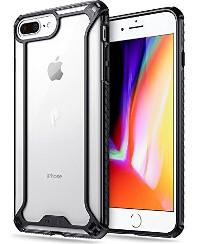 iPhone 7 Plus/iPhone 8 Plus Case, POETIC Affinity Series Premium Thin/No Bulk/Clear/Dual Material Protective Bumper Case for Apple iPhone 7 Plus (2016) / iPhone 8 Plus (2017) Black/Clear