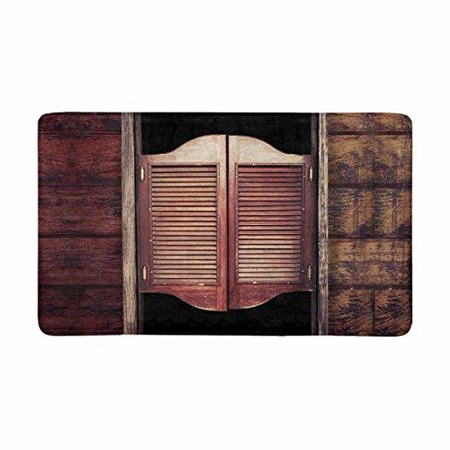 InterestPrint Old Rustic Western Swinging Saloon Doors West Cowboy Bar Doormat Non-Slip Indoor and Outdoor Door Mat Rug Home Decor, Entrance Rug Floor Mats Rubber Backing, Large 30″(L) x 18″(W) Review