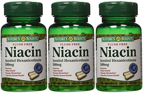 (Nature's Bounty Flush Free Niacin 500 Mg, 150 Capsules (3 X 50 Count Bottles))