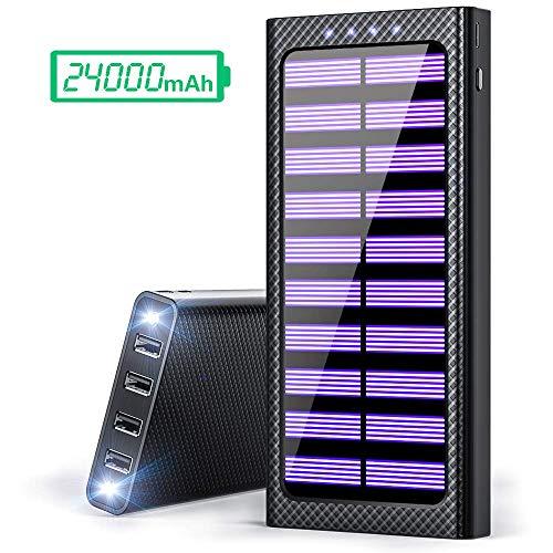 Gnceei Powerbank 25000mAh Externer Akku, 2 in 1 Kabellose Qi Power Bank mit...