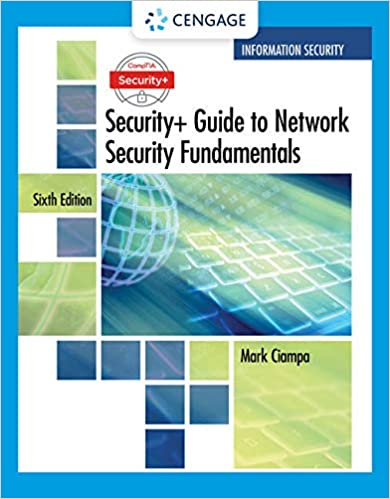 CompTIA Security+ Guide to Network Security Fundamentals - Standalone Book 6th Edition
