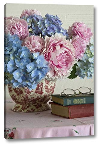 Hydrangea and Peony Arrangement on Table by Don Paulson - 12