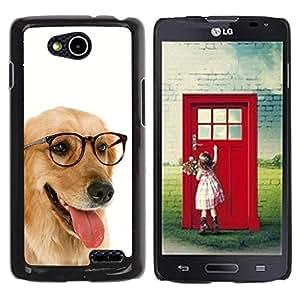 Be Good Phone Accessory // Dura Cáscara cubierta Protectora Caso Carcasa Funda de Protección para LG OPTIMUS L90 / D415 // Labrador Retriever Golden Glasses Dog