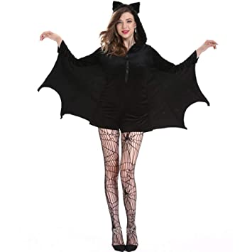ERFD&GRF Mujeres Halloween Juego de Roles Sólido Vestido de ...