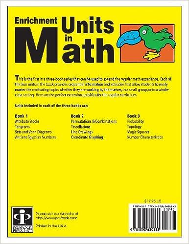 Amazon.com: Enrichment Units in Math: Book 1, Grades 2-3 ...