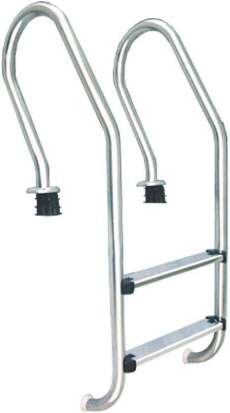 WYYH Escalera Piscina Desmontable, Acero Inoxidable Escalera Piscina Elevada Moverse Escalera para Picinas, Instalar Peldaños Antideslizantes Escalera De Piscina, Apto para Piscina Level 2