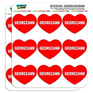 "Graphics and More I Love Heart Georgiann Planner Calendar Scrapbooking Crafting Stickers - 18 2"" Clear Stickers"