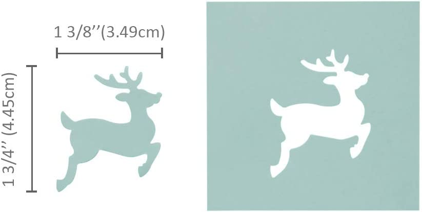 for Paper Crafting Scrapbooking Cards Arts Christmas Punch Bira 2inch Reindeer Lever Action Craft Punch