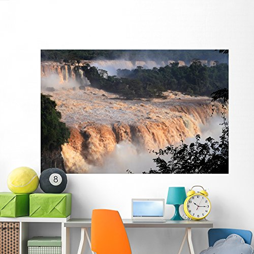 National Iguacu Park - Wallmonkeys WM360788 Flood of The Century at Iguaçu National Park Peel and Stick Wall Decals (72 in W x 48 in H), Colossal