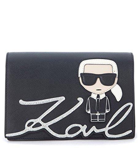Bolso con bandolera Karl Lagerfeld Ikonik con purpurina y estampa