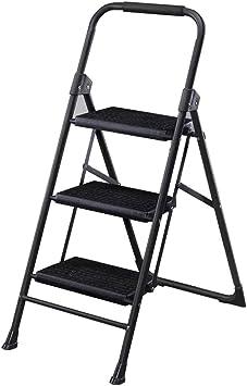 Escalera Plegable De Acero Al Carbono For El Hogar 2 Pasos / 3 Pasos Escalera Interior Escalera Escalera Antideslizante Pedal De Ensanchamiento Negro (Size : 3 floors): Amazon.es: Bricolaje y herramientas