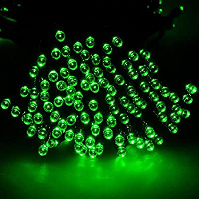 1Pc Monumental Modern 200x LED Solar Power Nightlight Xmas Props Outdoor Lamp Christmas Light Colors Green