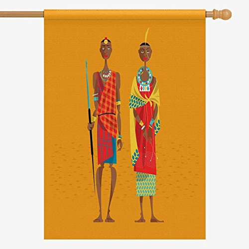 InterestPrint Ethnic African Maasai Couple in Traditional Cl