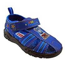 Toddler Boys Thomas the Train Blue Closed-Toe Sport Sandals with Velcro