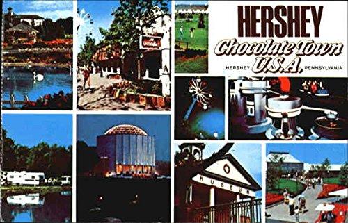 Hershey Chocolate Town Hershey, Pennsylvania Original Vintage Postcard by CardCow Vintage Postcards
