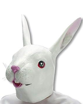 Máscara blanca del conejo