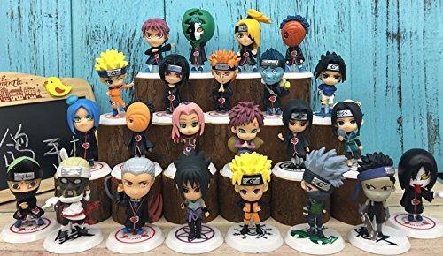 ToysFromTokyo Set of 23 Naruto Akatsuki Mini Action Figures Including Sakura Kakashi Sasuke