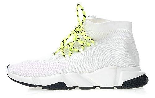 Balenciaga Speed Trainers Lace-Up Knit Sock 517319W07U09000 White Zapatillas de Running para Hombre Mujer: Amazon.es: Zapatos y complementos